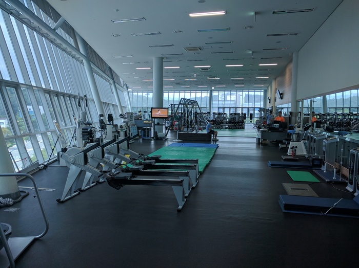 A fitness center